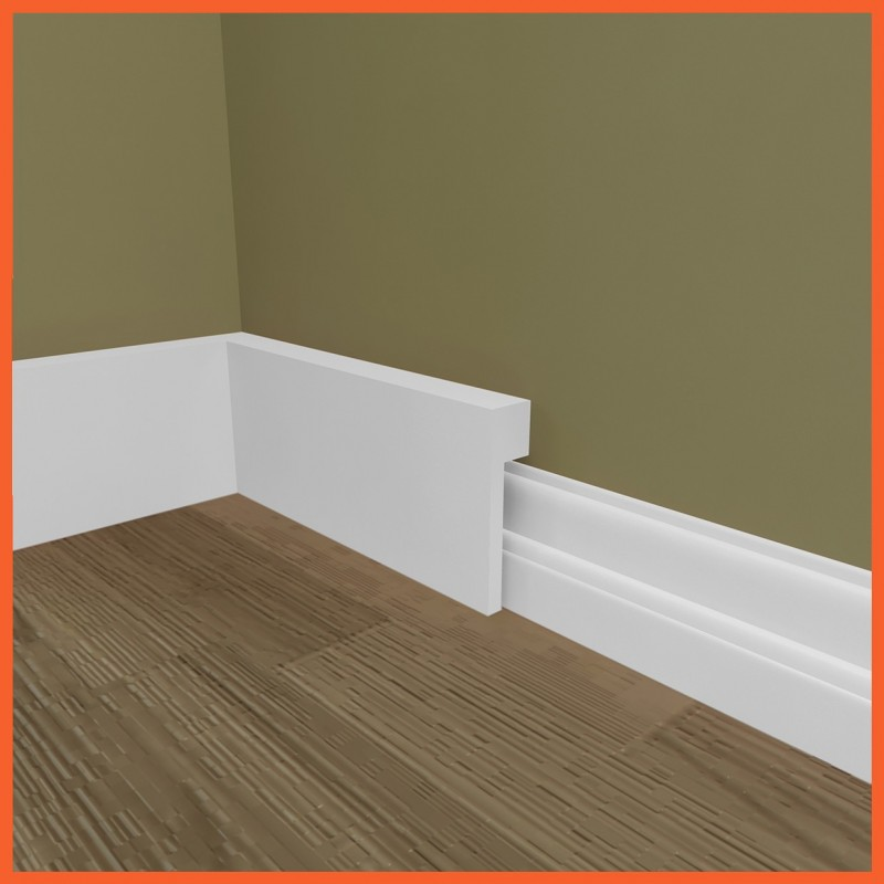 Square mdf skirting board cover over