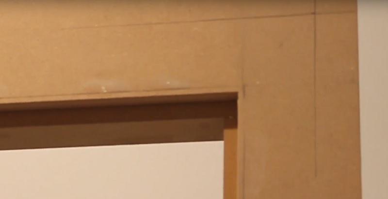 uneven door frame marking for architrave
