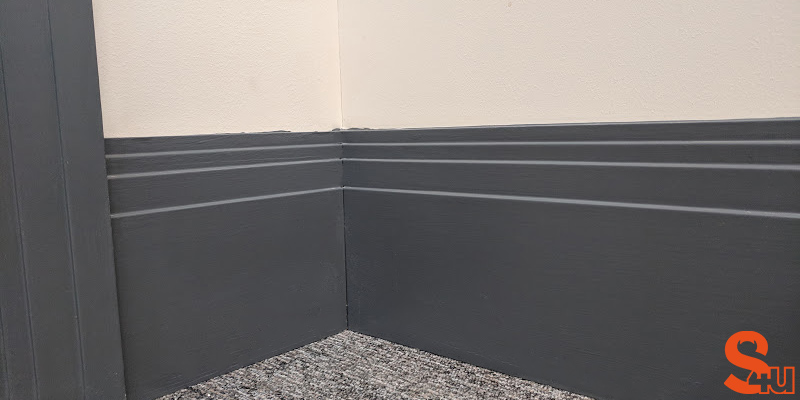 grey stepped skirting board
