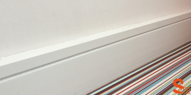 modern square groove skirting board