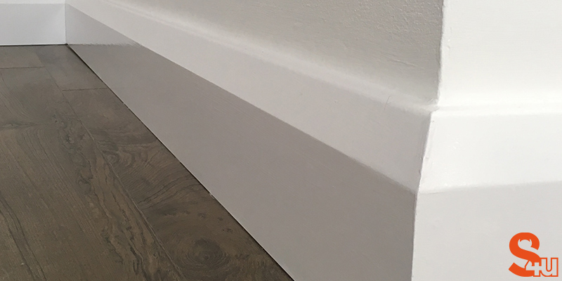 modern skirting board chamfer