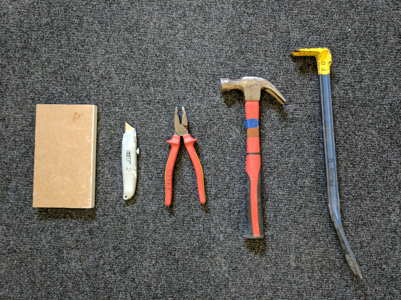 Tools required to remove skirting