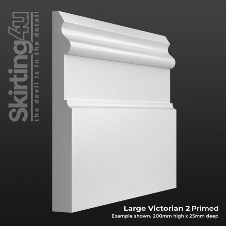 Large Victorian 2 MDF Skirting Board