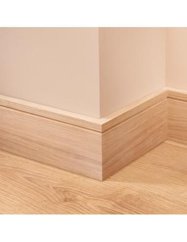 Square Groove Oak Skirting Board