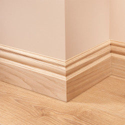 Edwardian Oak Skirting Board