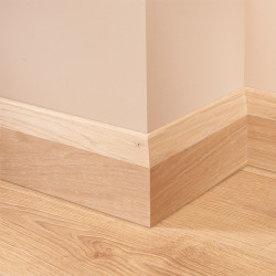 Chamfer Oak Skirting Board