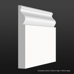 Ogee Skirting SAMPLE