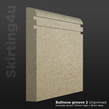 Bullnose Groove 2 MDF Skirting Board