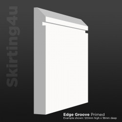 Edge Groove MDF Skirting Board
