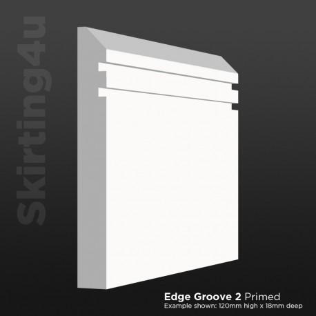 Edge Groove 2 MDF Skirting Board