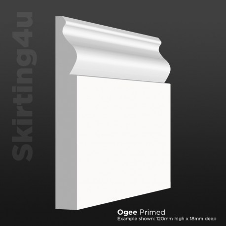 Ogee MDF Skirting Board
