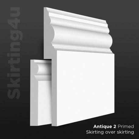 Antique 2 MDF Skirting Board Cover (Skirting Over Skirting)