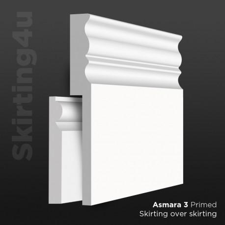 Asmara 3 MDF Skirting Board Cover (Skirting Over Skirting)