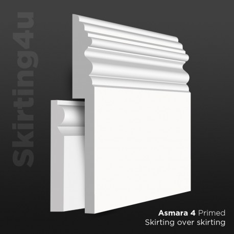 Asmara 4 MDF Skirting Board Cover (Skirting Over Skirting)