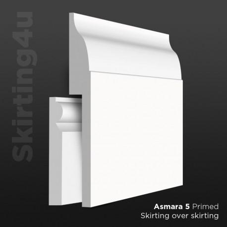 Asmara 5 MDF Skirting Board Cover (Skirting Over Skirting)