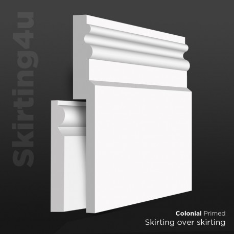 Colonial MDF Skirting Board Cover (Skirting Over Skirting)