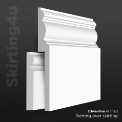 Edwardian MDF Skirting Board Cover (Skirting Over Skirting)