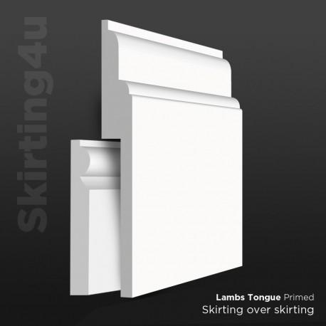 Lambs Tongue MDF Skirting Board Cover (Skirting Over Skirting)