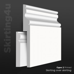 Ogee 2 MDF Skirting Board Cover (Skirting Over Skirting)