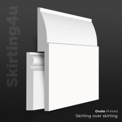 Ovolo MDF Skirting Board Cover (Skirting Over Skirting)