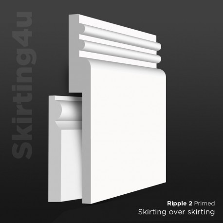 Ripple 2 MDF Skirting Board Cover (Skirting Over Skirting)