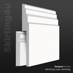 Stepped MDF Skirting Board Cover (Skirting Over Skirting)