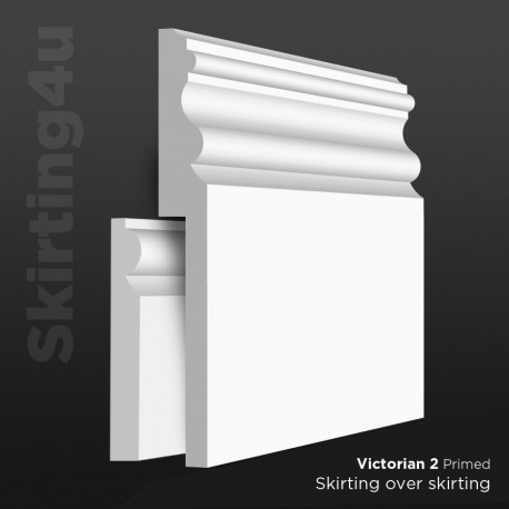 Victorian 2 MDF Skirting Board Cover (Skirting Over Skirting)
