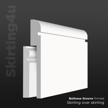 Bullnose Groove MDF Skirting Board Cover (Skirting Over Skirting)