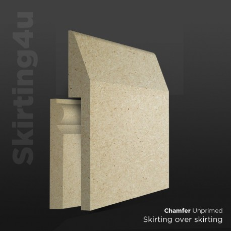 Chamfer MDF Skirting Board Cover (Skirting Over Skirting)