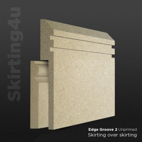 Edge Groove 2 MDF Skirting Board Cover (Skirting Over Skirting)