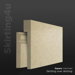 Square MDF Skirting Board Cover (Skirting Over Skirting)
