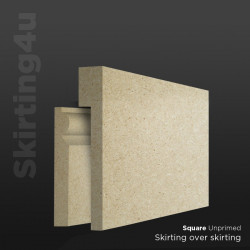 Square MDF Skirting Board Cover (Skirting Over Skirting)