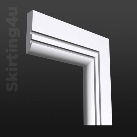 Bullnose Grooved 2 MDF Architrave White Primed