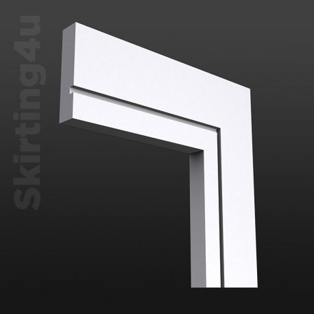 Square Groove MDF Architrave White Primed