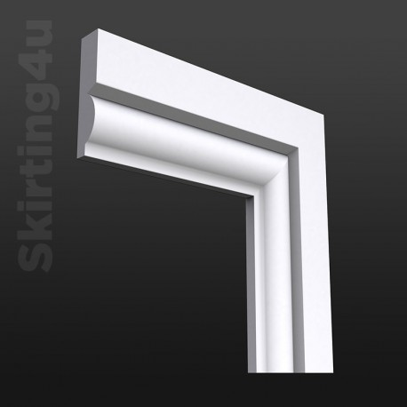 Torus 1 MDF Architrave White Primed