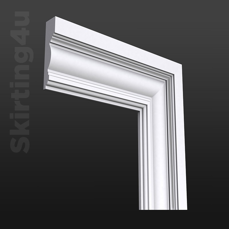 Edwardian MDF Architrave White Primed ... & Edwardian Architrave - Quality MDF Architrave | Skirting 4 U