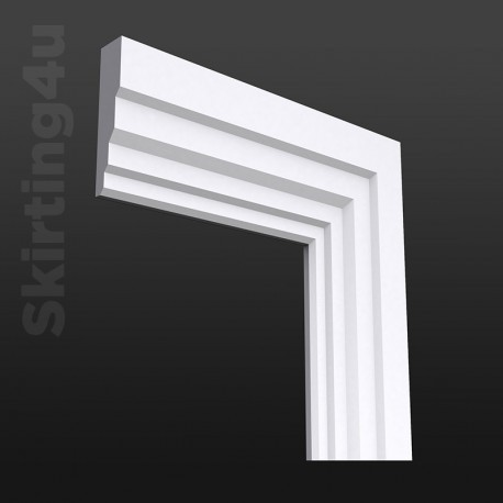 Stepped MDF Architrave White Primed