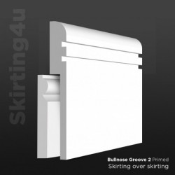 Bullnose Groove 2 MDF Skirting Cover SAMPLE