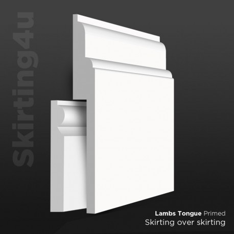 Lambs Tongue MDF Skirting Cover SAMPLE