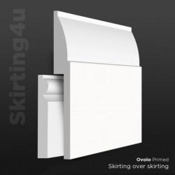 Ovolo MDF Skirting Cover SAMPLE