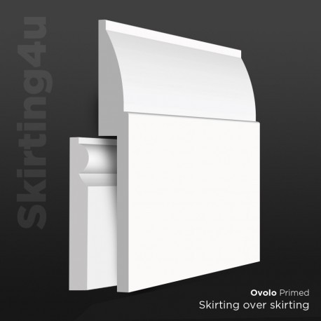Ovolo MDF Skirting Cover SAMPLE