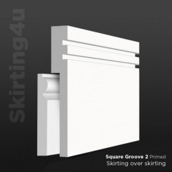 Square Groove 2 MDF Skirting Cover SAMPLE