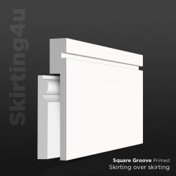 Square Groove 1 MDF Skirting Cover SAMPLE