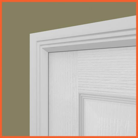Edge Groove 2 MDF Architrave White Primed