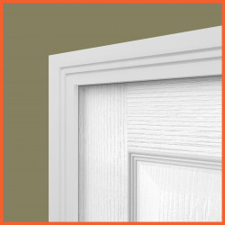 Square Groove 2 MDF Architrave White Primed