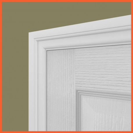 Lambs Tongue MDF Architrave White Primed