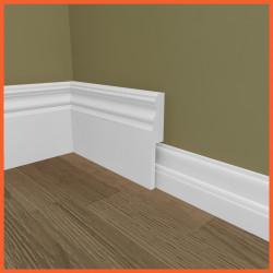 Victorian 2 MDF Skirting Board Cover (Skirting Over Skirting)