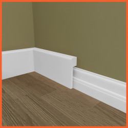 Mini Bullnose MDF Skirting Board Cover (Skirting Over Skirting)