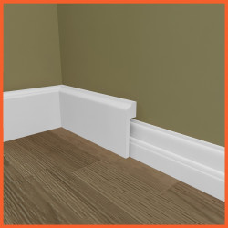 Edge 2 MDF Skirting Board Cover (Skirting Over Skirting)