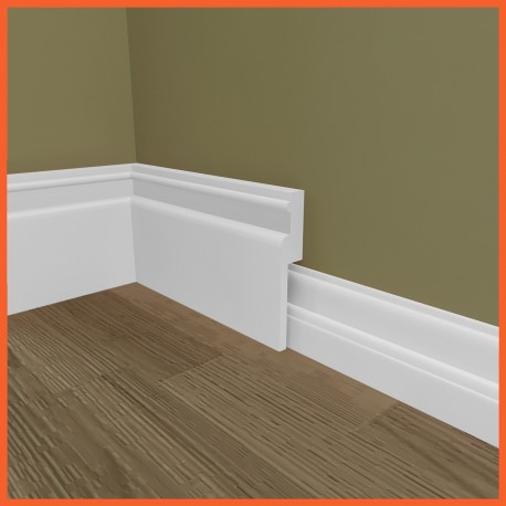 Ripple MDF Skirting Board Cover (Skirting Over Skirting)